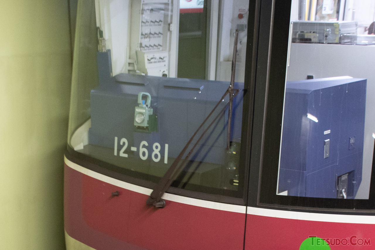 大江戸線の車両が装備しているワイパー