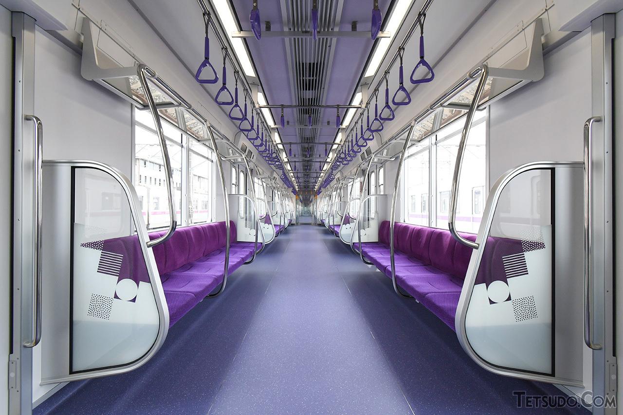 冷房が効いた現代の地下鉄の車内(イメージ)