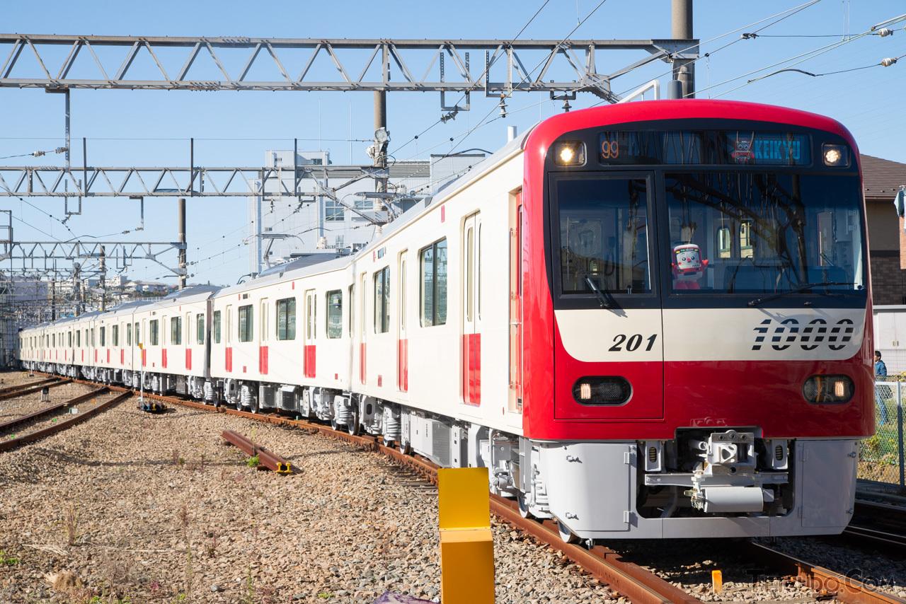 「白い京急車」の状態で納車された新1000形1201編成