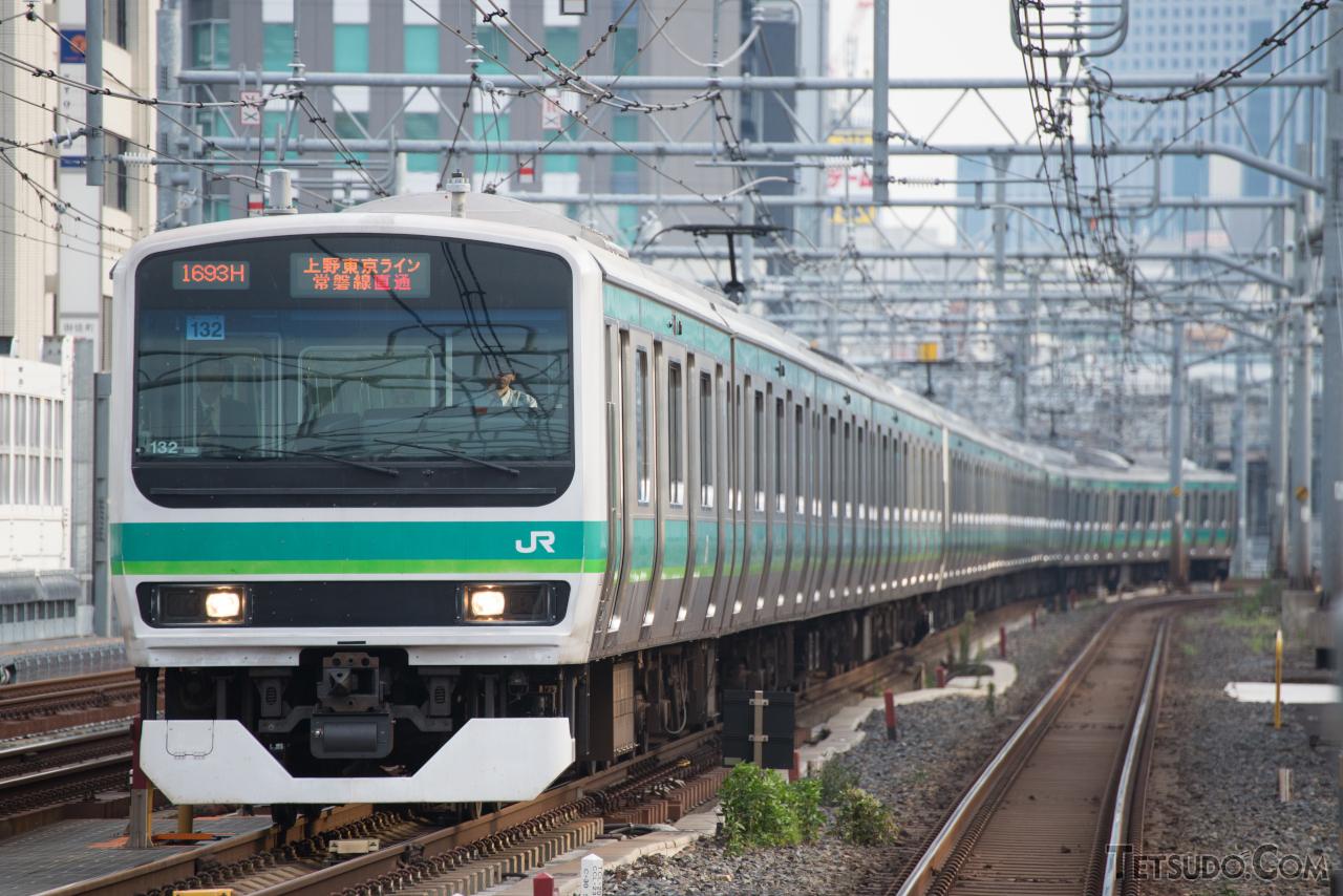 常磐線快速のE231系は、グリーン車を組み込まない編成では日本最長