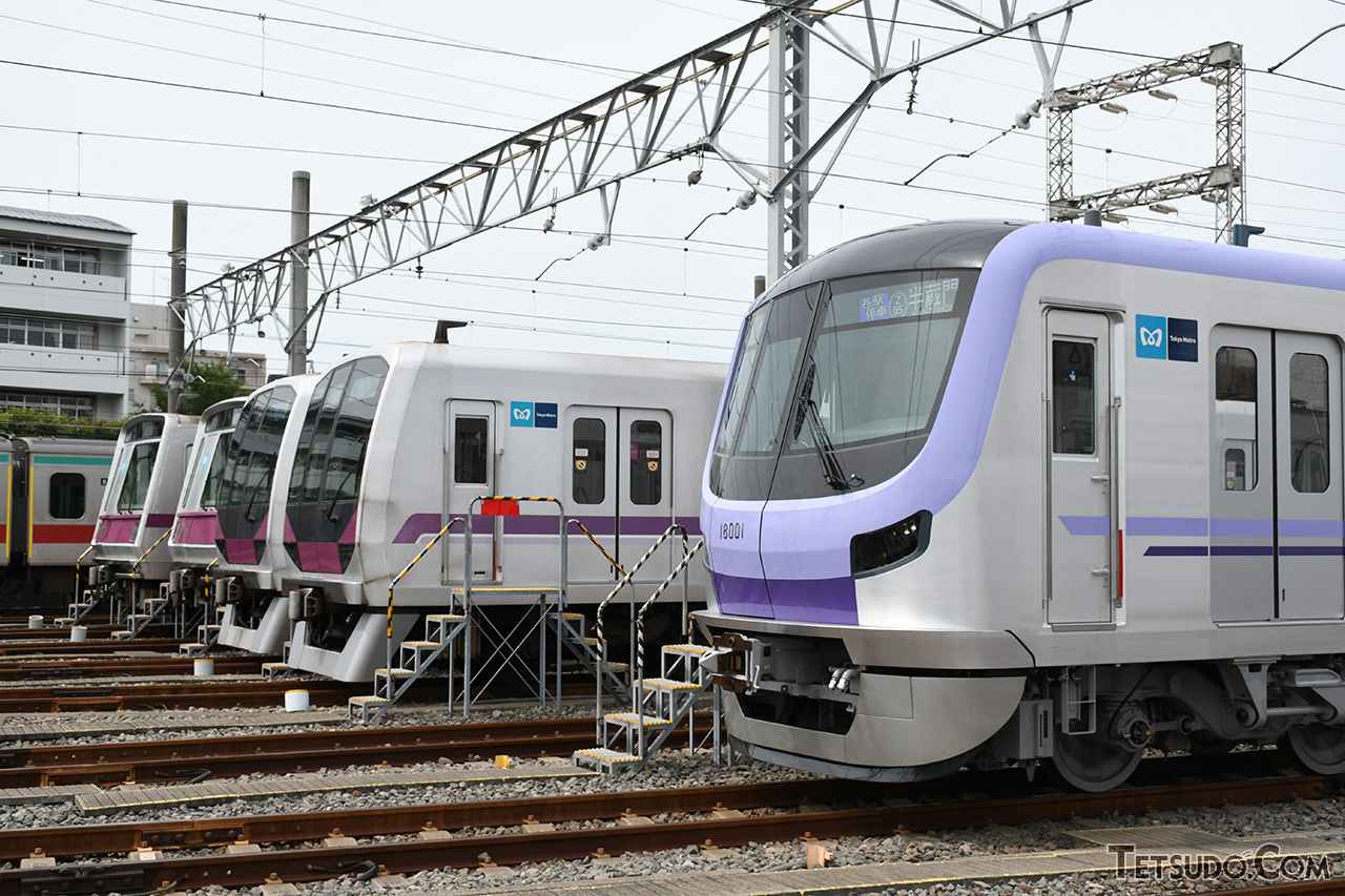 直通先の東急線内に設置されている、半蔵門線の車両基地
