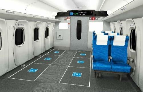 車いすスペースを増設したN700Sのイメージ(画像:JR東海)