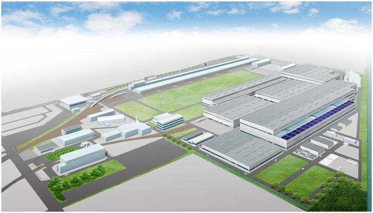 浜松工場のリニューアル完成予想図