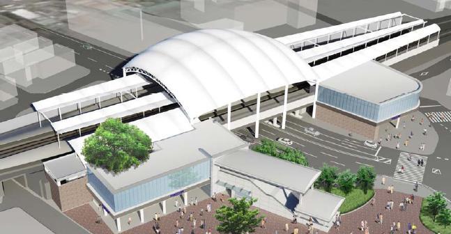 リニューアル後の阪神甲子園駅イメージ