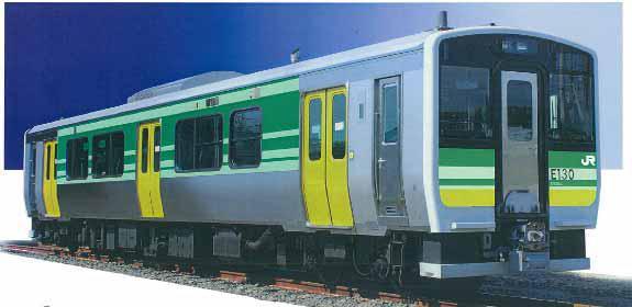キハE130形車両(久留里線用車両のデザインは検討中だという)