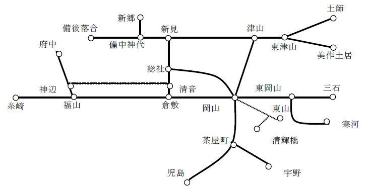 「岡山・尾道おでかけパス」乗り放題区間