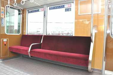 阪急 赤紫色(マゼンタ)の優先座席(イメージ)