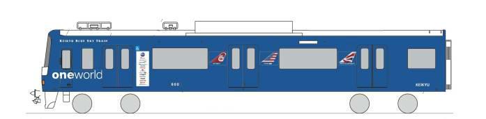 ワンワールドラッピング電車(イメージ)
