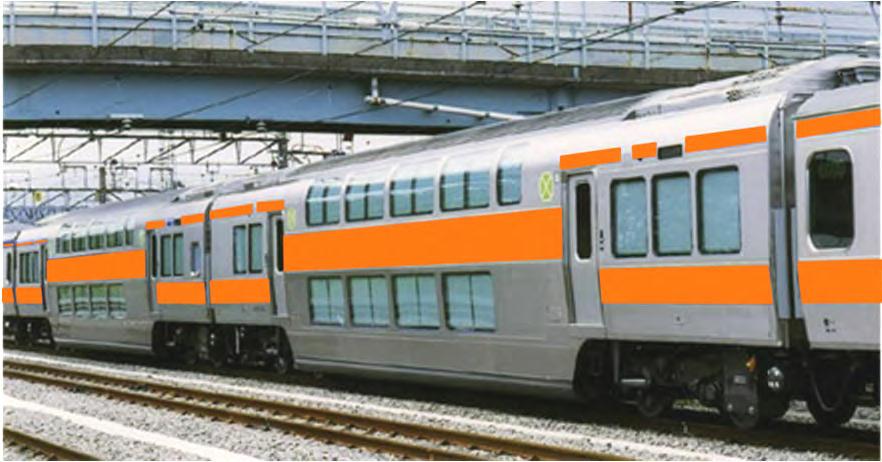 中央快速線グリーン車(イメージ)