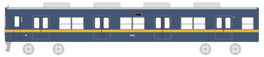 8000系「フライング東上号」(イメージ)