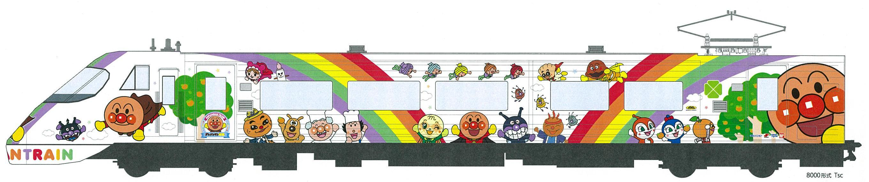 8000系アンパンマン列車(イメージ)