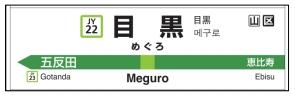 ホーム駅名標(表示イメージ)