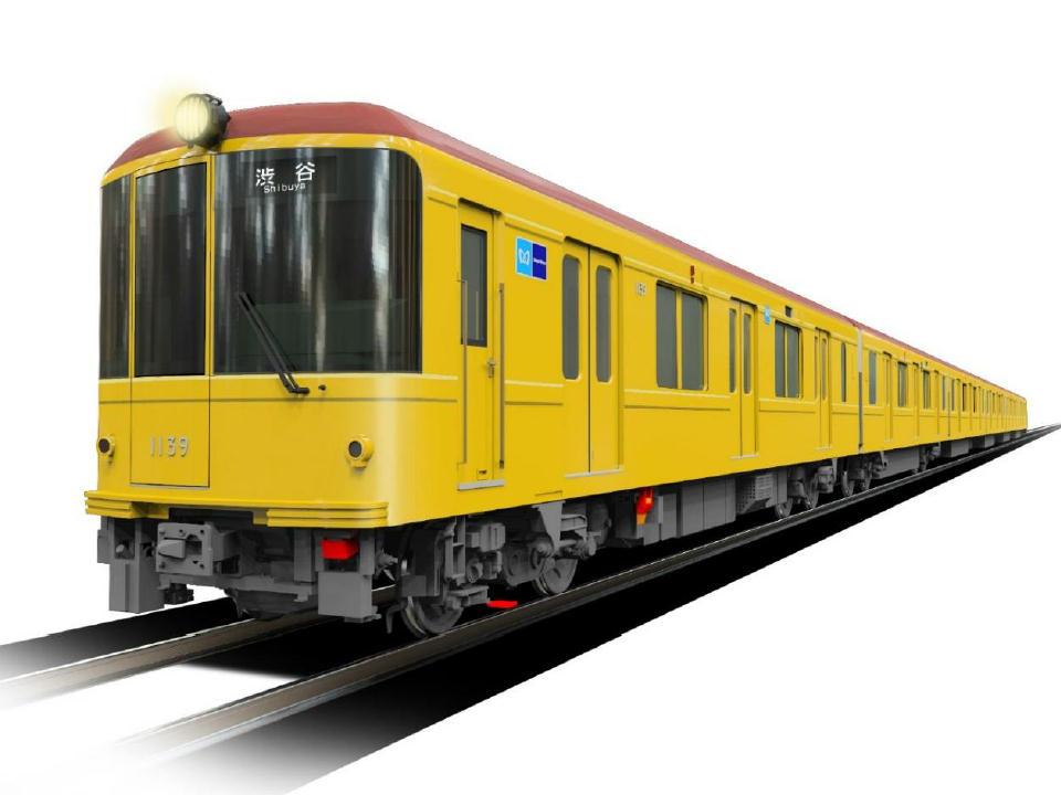 銀座線1000系特別仕様車両(イメージ)