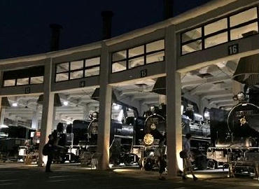 扇形車庫ライトアップ(イメージ)