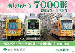 7000形1日乗車券(デザイン)