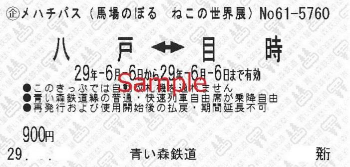 イベント・メハチパス(券面デザイン)