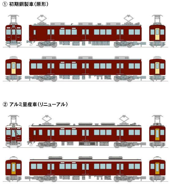 鉄コレ「阪急7000系」(イメージ)