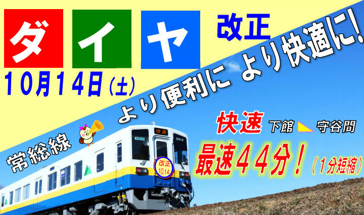 常総線 ダイヤ改正(イメージ)