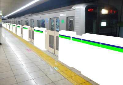 大島駅ホームドア(イメージ)
