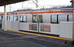 金山駅 ホーム可動柵 実証試験
