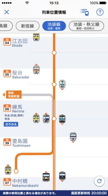 列車位置情報イメージ