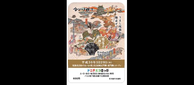 記念ドニチエコきっぷ(券面デザイン)