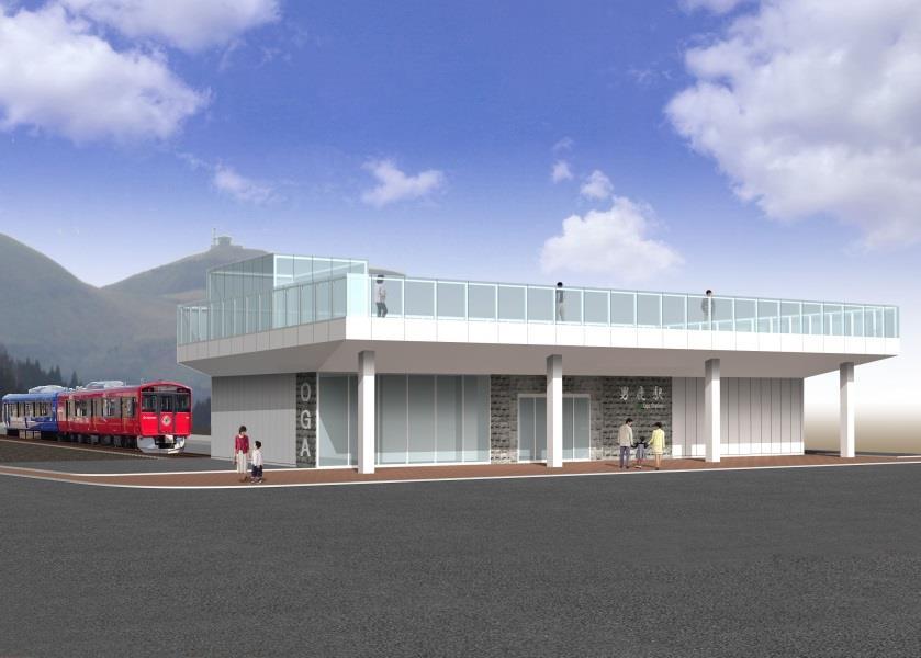 男鹿駅(新駅舎イメージ)