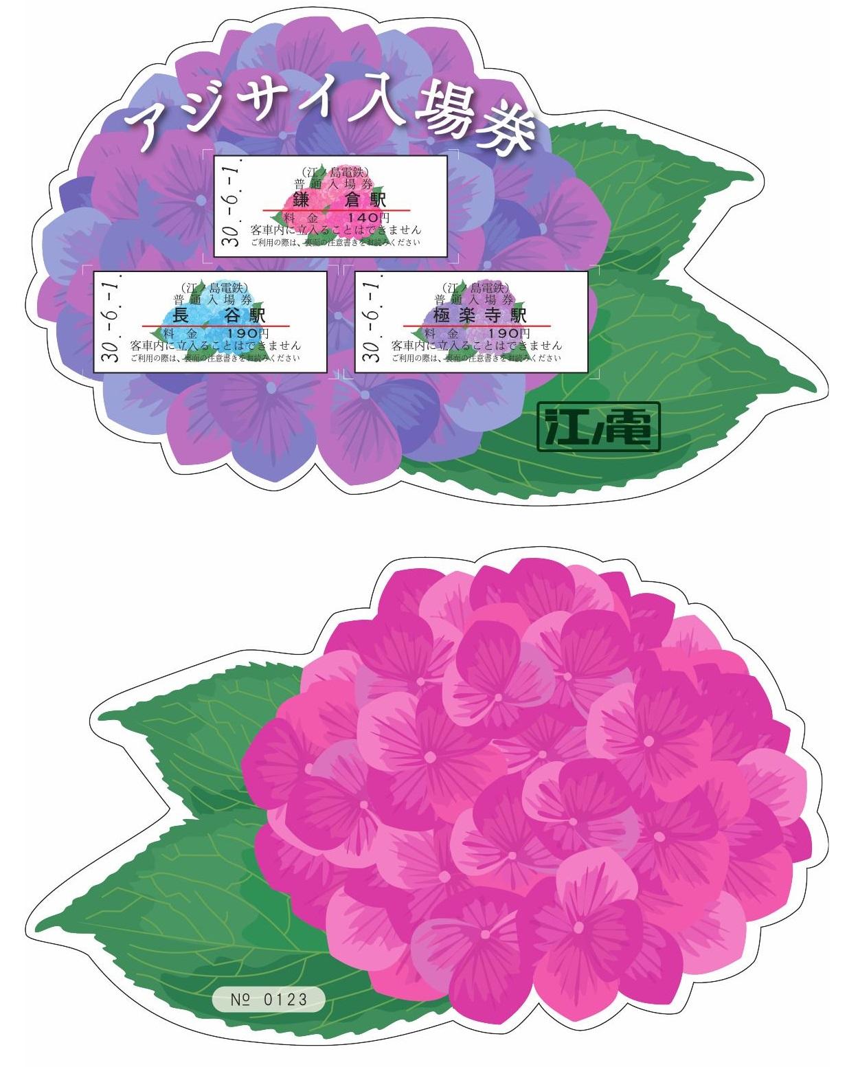 アジサイ入場券セット(イメージ)