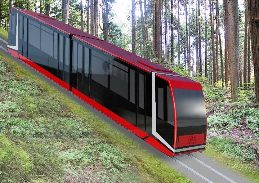 高野山ケーブルカー新型車両(イメージ)