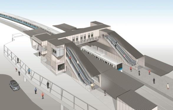 鶴巻温泉駅(改良後イメージ)