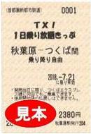 1日乗り放題きっぷ(大人用イメージ)