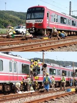 鉄道事故復旧訓練(イメージ)