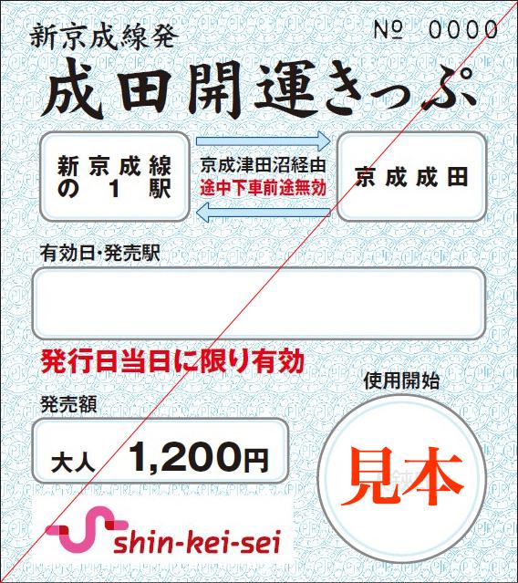 成田開運きっぷ(イメージ)