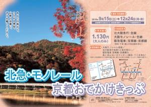 北急・モノレール 京都おでかけきっぷ