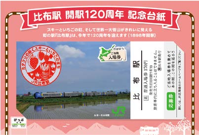 開駅120周年記念台紙(イメージ)