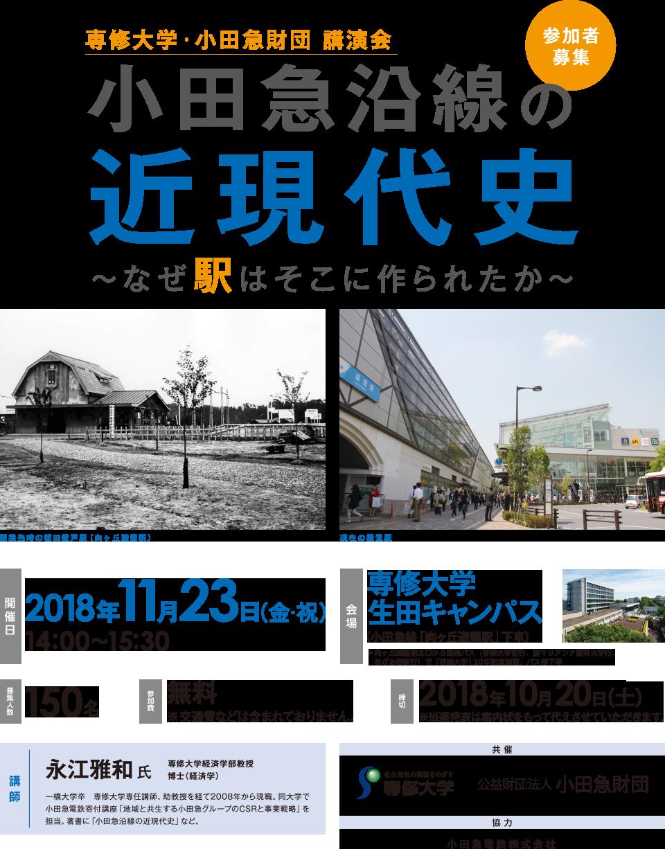 小田急沿線の近現代史(チラシ)