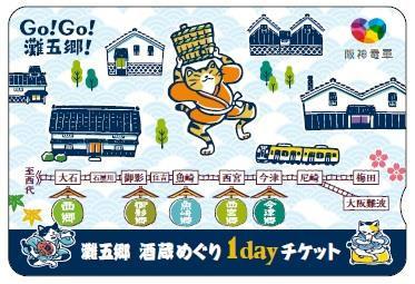 酒蔵めぐり1dayチケット(イメージ)