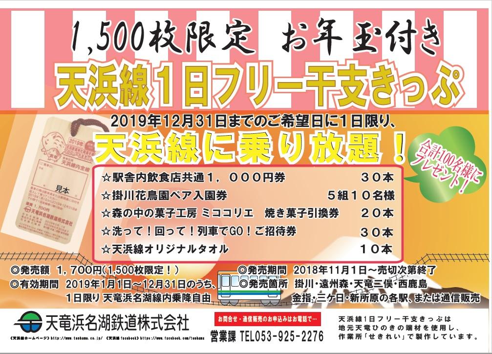 天浜線1日フリー干支きっぷ