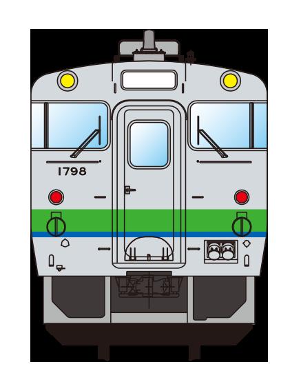 JR標準塗色車(イメージ)