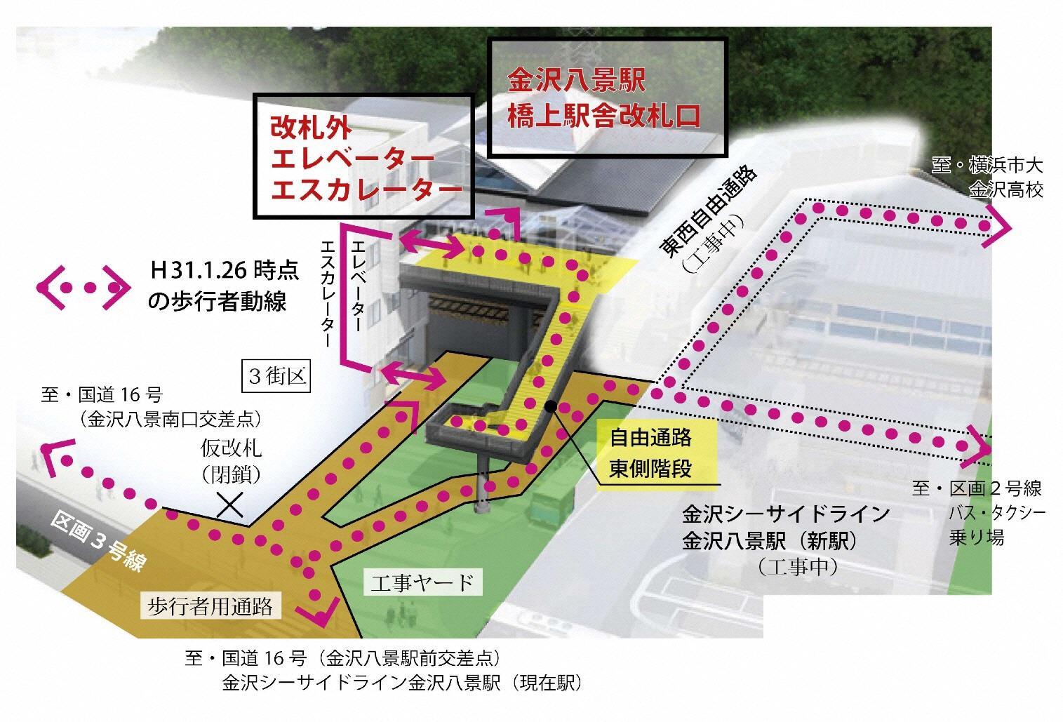 金沢八景駅橋上駅舎など(外観イメージ)