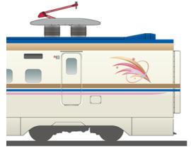 上越新幹線E7系シンボルマークなど(イメージ)