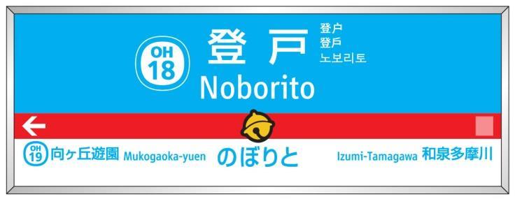 駅名標装飾イメージ