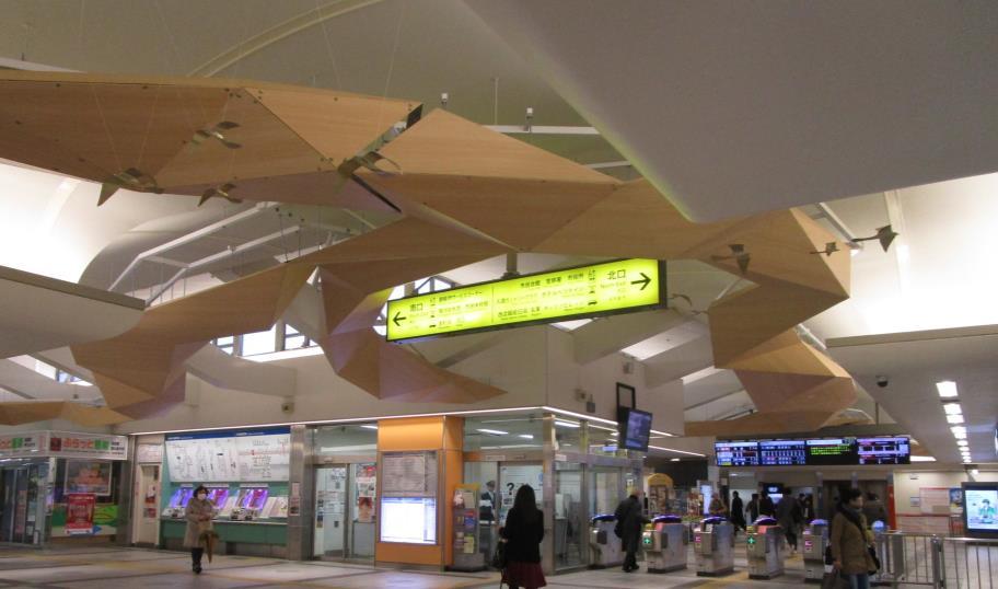 飯能駅改札外コンコース(2019年3月1日時点)