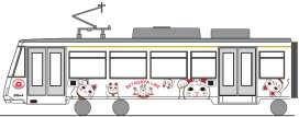 招き猫電車(イメージ)