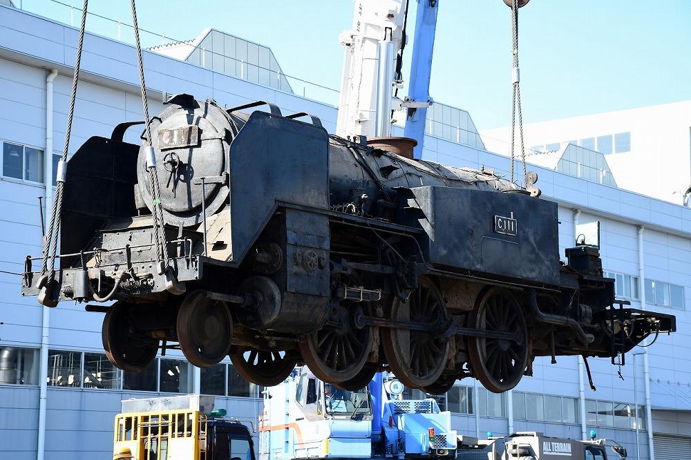 復元を進める蒸気機関車「C111」