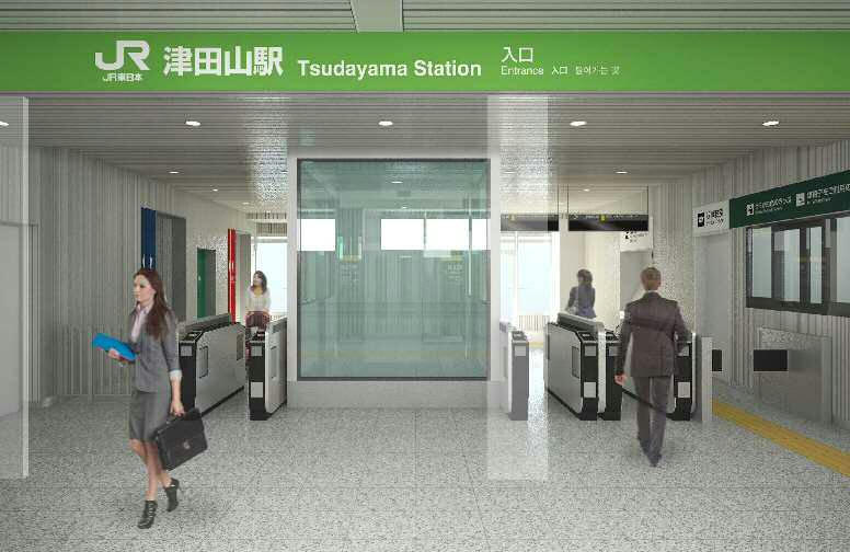 津田山駅改札口(イメージ)