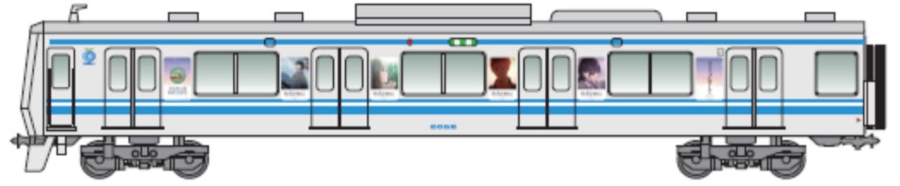 コラボラッピング電車(イメージ)