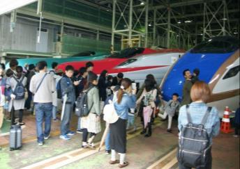 新幹線車両基地まつり(イメージ)