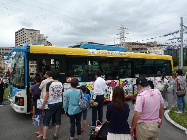 ラッピングバス展示(イメージ)