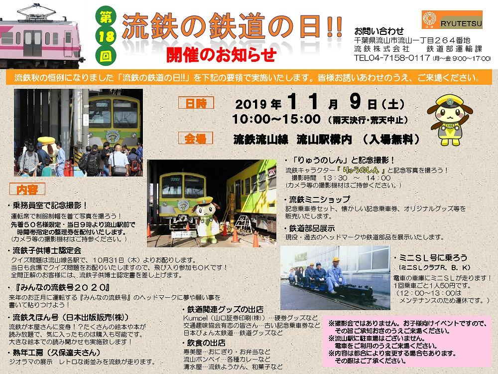 流鉄 鉄道の日イベント